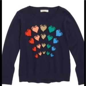 Tucker and Tate Girls heart sweater new condition